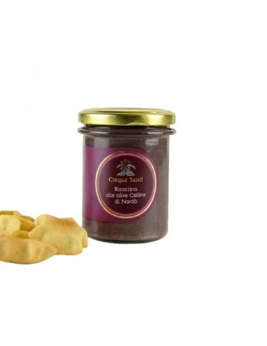 Ricottina alle olive celline - Masseria Cinque Santi | Prodotto Salentino Masseria Cinque Santi 5,00€