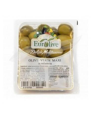 Olive verdi maxi in salamoia gr 400 - Eurolive Eurolive 4,30€