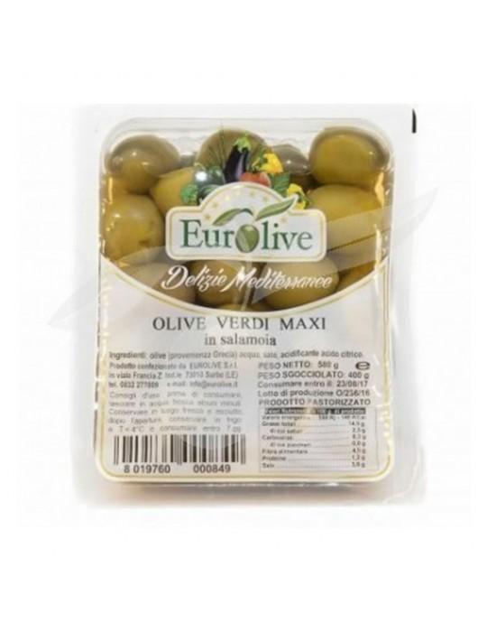 Olive verdi maxi in salamoia - Eurolive Eurolive 4,30€