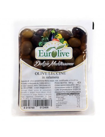 Olive nere leccine in salamoia - Eurolive