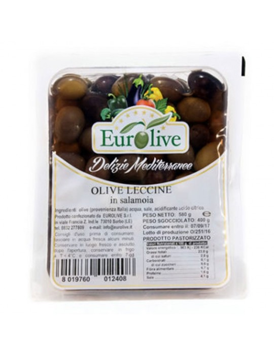 Olive nere leccine in salamoia - Eurolive Eurolive 3,80€