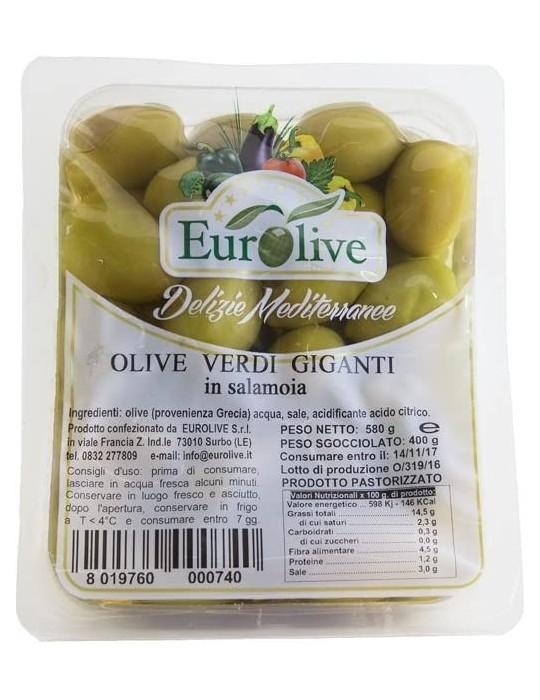 Olive verdi giganti in salamoia - Eurolive Eurolive 3,80€