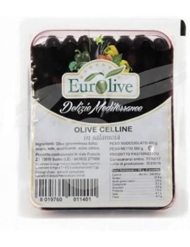 Olive nere Celline in salamoia gr 400 - Eurolive Eurolive 3,80€