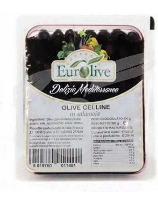 Olive nere Celline in salamoia - Eurolive Eurolive 3,80€