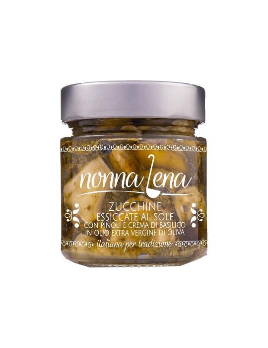 Zucchine essiccate con pinoli e crema di basilico - Nonna Lena | Prodotto Salent Nonna Lena 4,80€