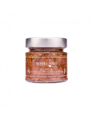 Brunoise di olive Leccino e cipolla rossa - Nonna Lena | Prodotto tipico