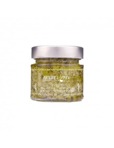 Pesto di melanzane e mentuccia con olio evo aromatizzato all'aglio - Nonna Lena