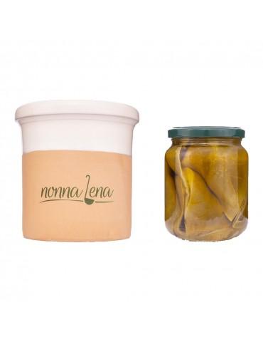 Peperoni alla pressa in contenitore di ceramica - Nonna Lena